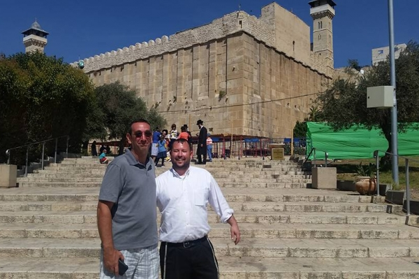 First time at the Tomb of the Patriarchs for this guy!