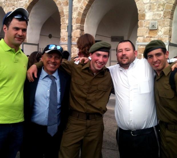 Asher David Milstein, Jeff Siedel, Aaron Levin, Ben Packer, and Jack Brenner at Mikveh Alon