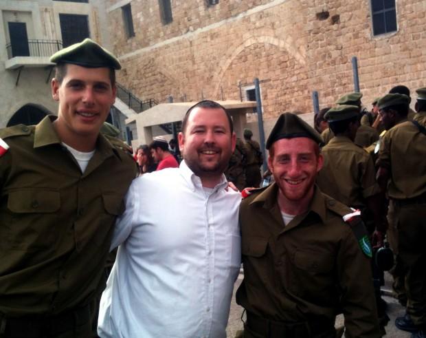 Zack Epstein, Ben Packer and Baruch Kranz at Mikveh Alon Swearing inCeremony