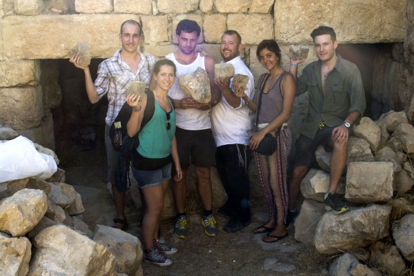 Helping excavate the Ancient Synagogue. — ‎with Andrés Lozano, Anahina Azar, Ben Packer, Luciana Rozenberg and Gabriel Gallina Palchik