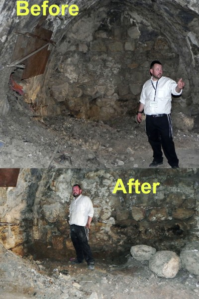 just one days work, there's still more that must be done! Rabbi Ben Packer Director of Jerusalem Heritage House shows the difference.