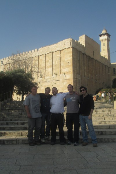 Jerusalem Heritage House Guests arrive in hebron and visit the cave of the patriarchs to connect to this ancient place and our ancestors that are buried there.