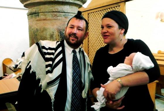Bris of Rabbi Ben Packer's son Arieh Packer.