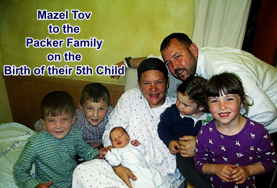 Mazel Tov to our Director and Supreme Commander Rabbi Ben Packer and the whole Packer Family on the Birth of a Baby Boy.