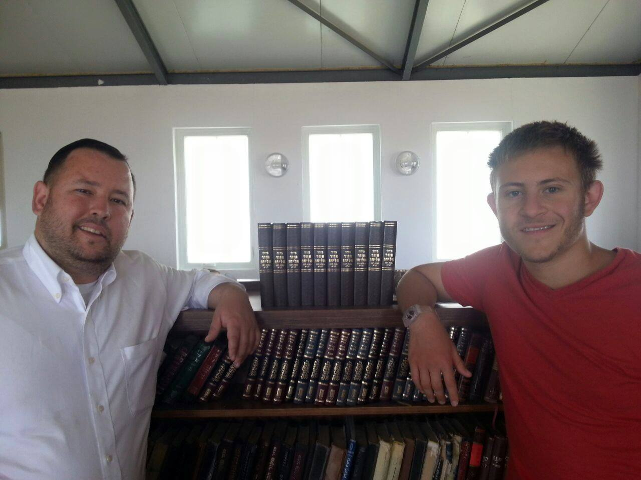 "Heritage House Donated new prayer books to the Jewish Community of ""Sde Boaz"" in Gush Etzion."