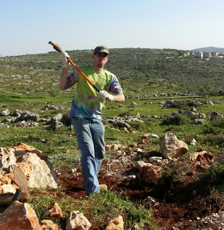 Satchel working in the Shomron