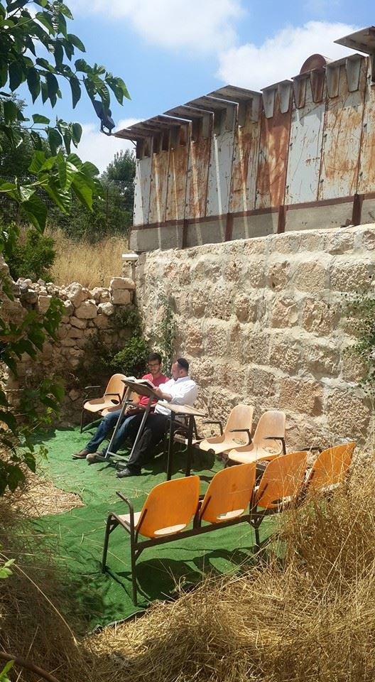 New outdoor study area in Hevron