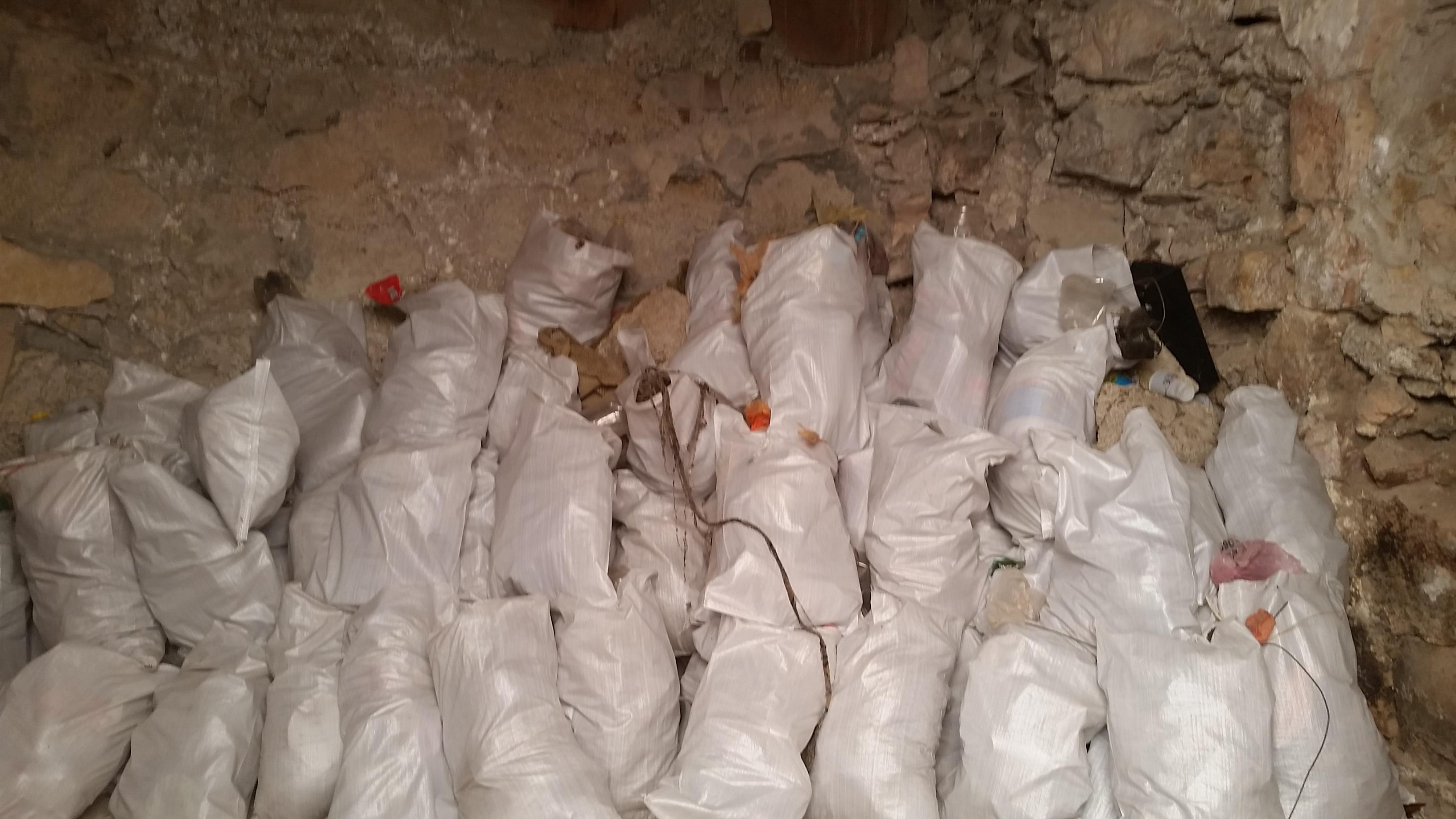 Alot of bags full of trash!