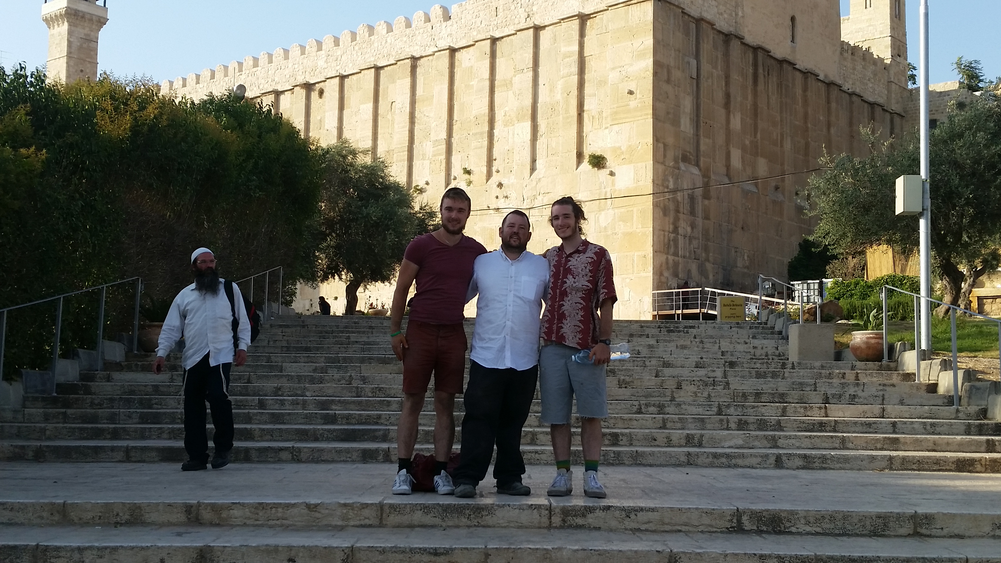 Outside the Tomb of the Patriarchs!