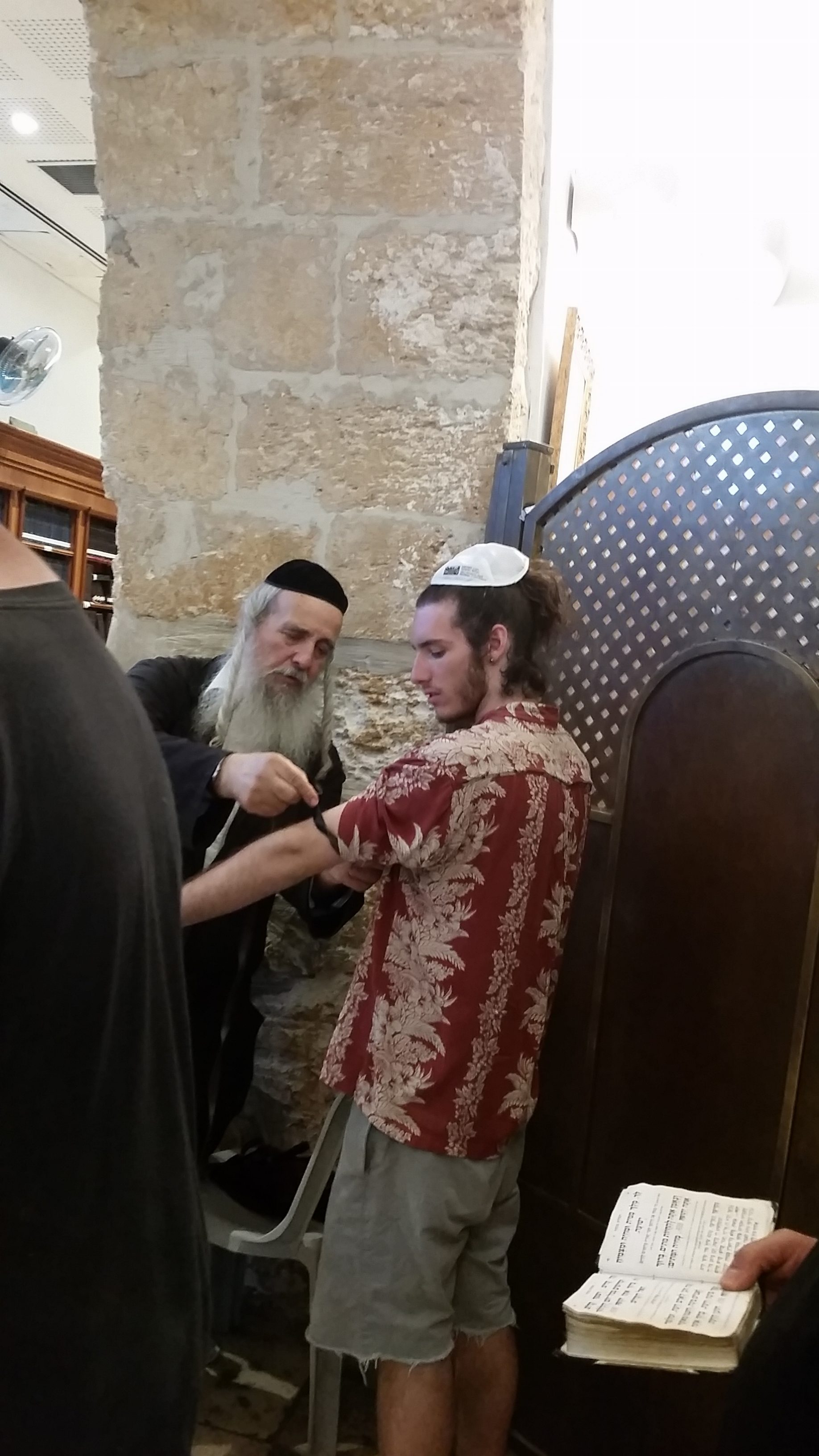 Tefillin at Rachel's Tomb in Bethlehem!