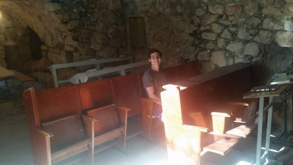 Both new benches are now in the ancient synagogue in Hevron!