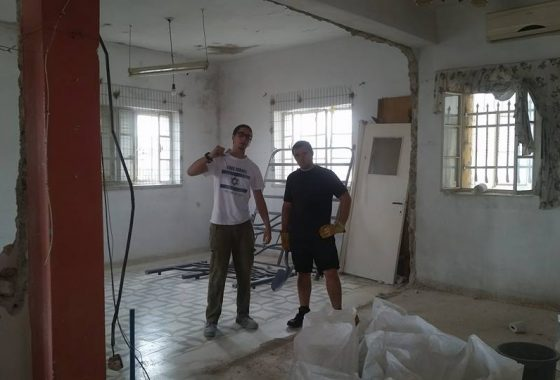 "Renovating a new Jewish property in the ""muslim quarter"" of the Old City."