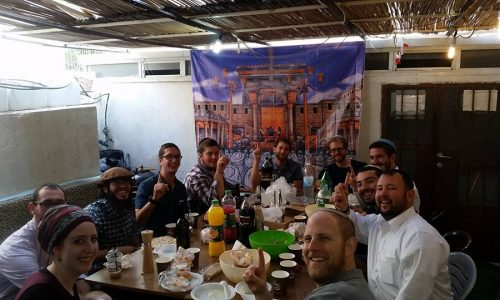 Awesome breakfast in the Sukkah!