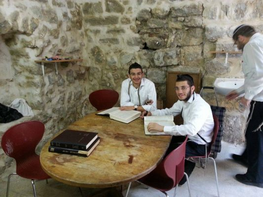 Moved the furniture in yesterday and already have Torah learning going on in the newest reclaimed Jewish property in the Old City of Jerusalem!