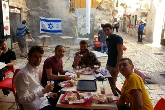 "Furniture moved into the newest reclaimed property in the ""muslim quarter"" of the Old City!"
