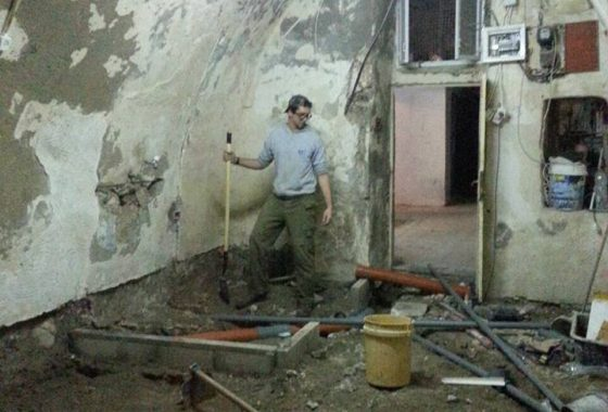 "Apartment being renovated in the ""muslim quarter"" near the Lions Gate!"