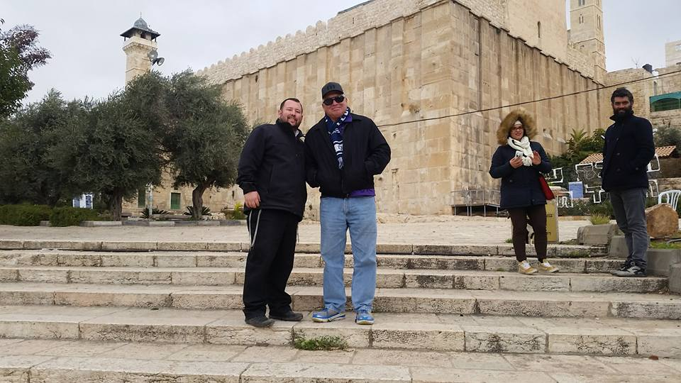 At the Tomb of the Patriarchs in Hevron!