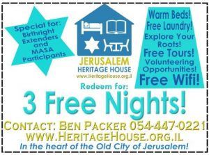 3 free Nights Birthright Extenders