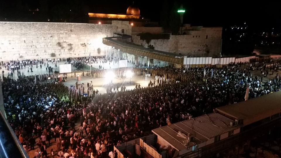 "Mazel tov to Adam Henderson on his ""swearing-in"" to the Israeli Army at the Western Wall."