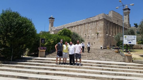 Outside of the Tomb of the Patriarchs in Hevron!