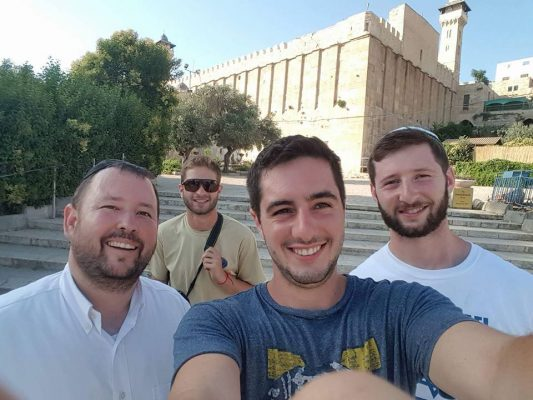 Outside the Tomb of the Patriarchs