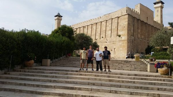 Outside the Tomb of the Patriarchs.