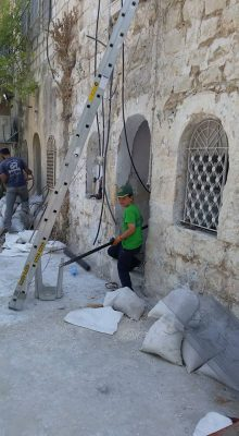Getting things ready in Yemenite Village