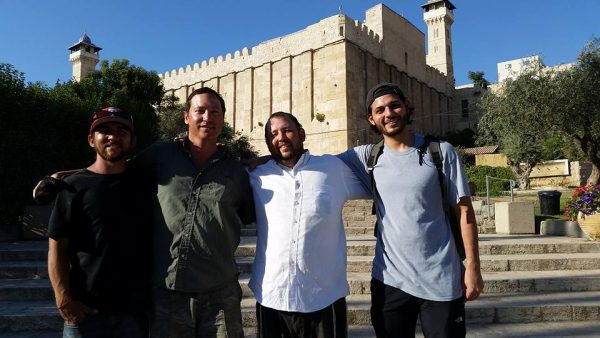 Outside the Tomb of the Patriarchs in Hevron!