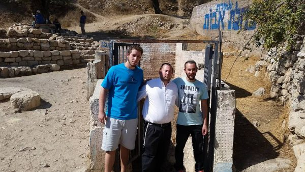 At the entrance to the Spring of Abraham, where the attack took place.