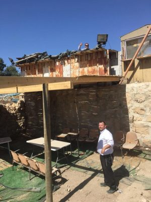 another view of the sukkah