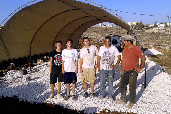 Built a shepherds tent in Kfar Tapuach in the Shomron (Someria).