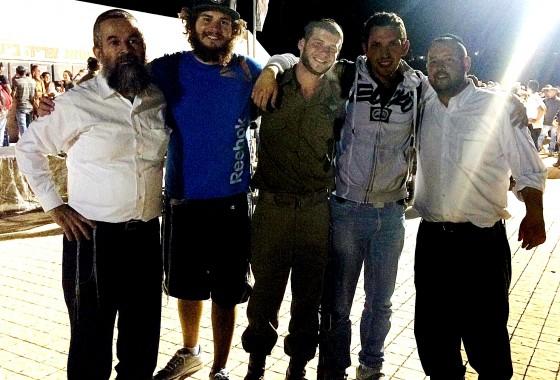 beret ceremony with the Netzach Yehuda